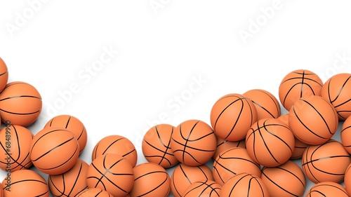 Fotografija  Basketball balls isolated on white background