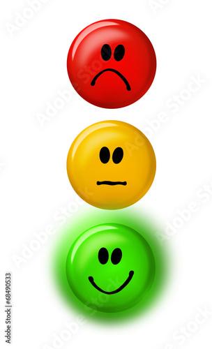 Smiley Rot-Gelb -Grün – kaufen Sie diese Illustration und