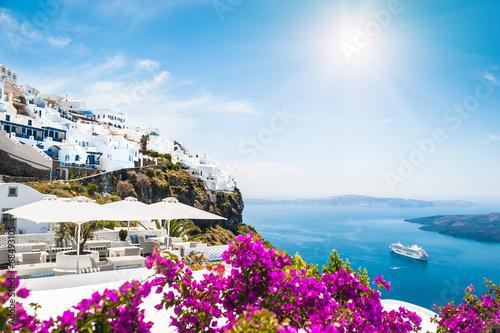 Tuinposter Santorini Santorini island, Greece