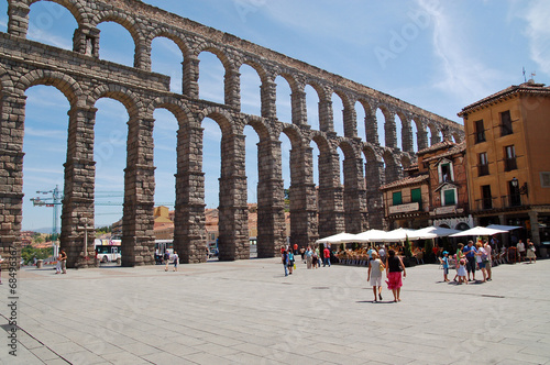 Giant Roman aqueduct in Segovia, Spain Wallpaper Mural