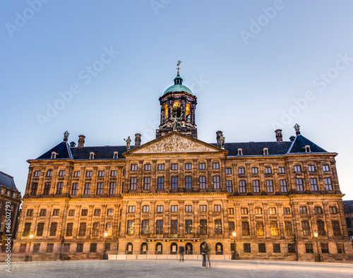 Photo Royal Palace in Amsterdam, Netherlands