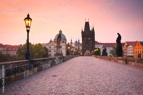 Poster Prague Charles Bridge in Prague, Czech Republic.