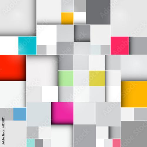 Fotografía  Vector Retro Square Background