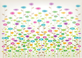 Obraz na Plexicolor vector flowers background