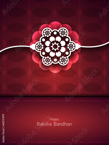 Fotografering  Artistic card design for Raksha Bandhan