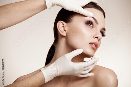 Beautiful Woman before Plastic Surgery Operation Cosmetology. Be