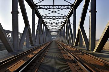 Panel Szklany Kolejowy most kratownicowy