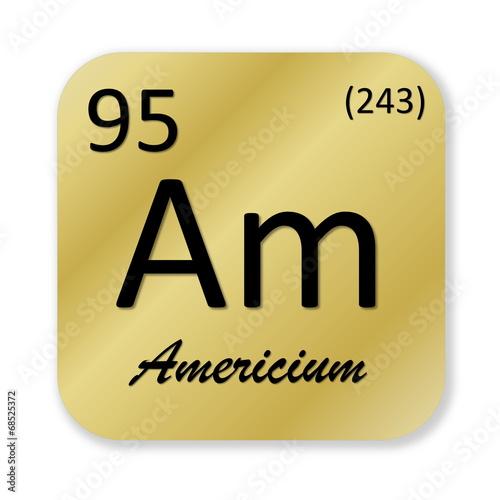Americium element Canvas Print