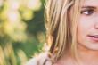 Leinwanddruck Bild - Summer girl portrait
