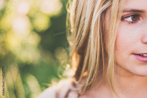 Fotografie, Tablou  Summer girl portrait