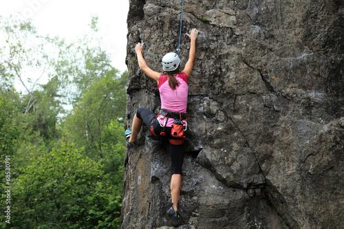 Photo Girl Rock Climber