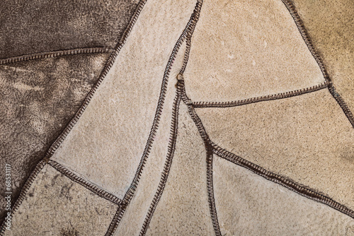 natural texture leather as a background, closeup