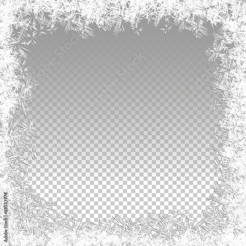 Fotografie, Tablou Transparent Vector Frozen Background