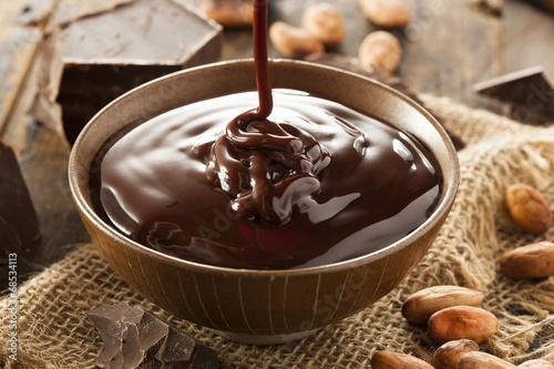 Foto op Plexiglas Chocolade Sweet Dark Chocolate Sauce