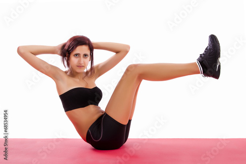 15140a68a Beautiful healthy young girl with gym clothes - Buy this stock photo ...