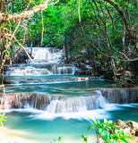 Huay Mae Khamin Waterfall, Kanchanaburi Province.