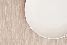 Weißer Teller
