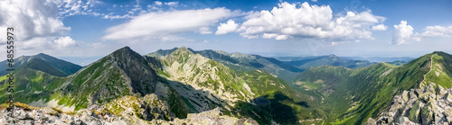 Panorama from the mountain top - West Tatras, Slovakia #68555973