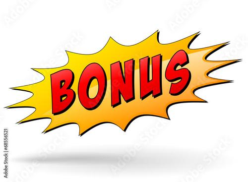Fototapeta Vector bonus sign obraz
