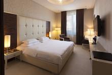 Interior Of A Hotel Bedroom In...