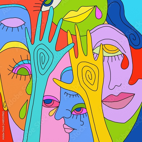 Keuken foto achterwand Klassieke abstractie fantasia di colori