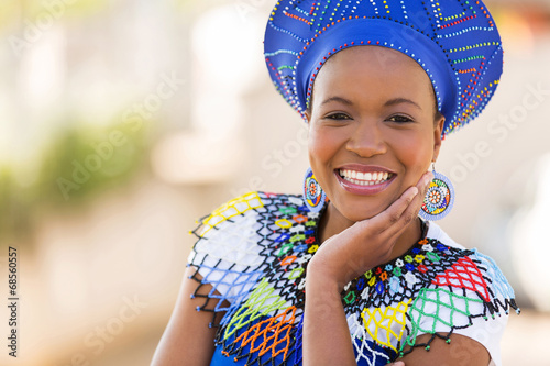 south african woman outdoors Wallpaper Mural