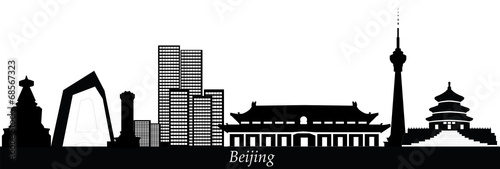 beijing china city skyline Canvas Print