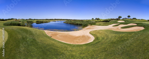 Landscape view of a golf course in the Algarve. - 68568114