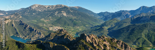 Foto op Aluminium Nachtblauw Panoramic landscape of Serra de Busa