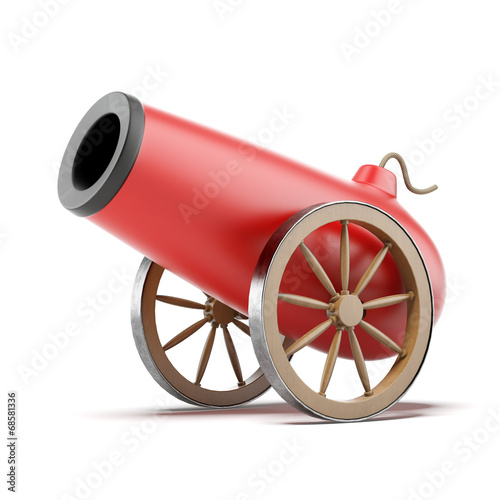 Leinwand Poster Red cannon