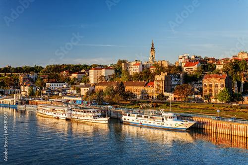 Belgrade from river Sava Canvas Print