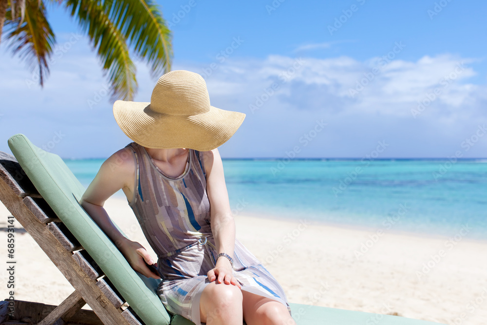 Fototapety, obrazy: woman at vacation
