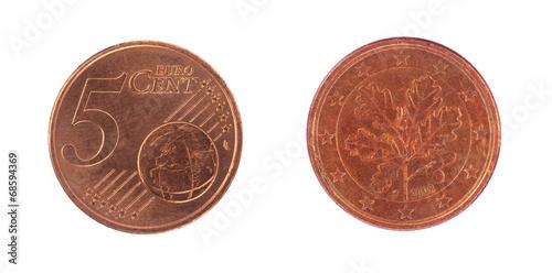 Fotografia  5 euro cent coin