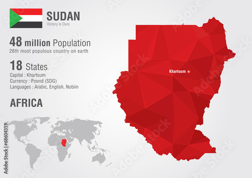 Sudan world map with a pixel diamond texture. - Buy this stock ... on tunis map, sudan historical map, sudan nile map, lagos map, auckland new zealand map, user khartoum sudan map, kabul map, khartoum state map, south sudan on a world map, khartoum africa map,