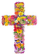 Flowers Of A Cross Of Jesus