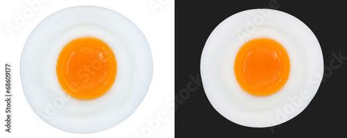 Deurstickers Gebakken Eieren fried eggs isolated