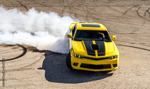 Luxury yellow sport car Fototapete