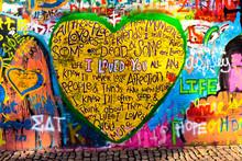 Graffiti Of Heart With Inscrip...