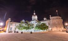 Kingston City Hall, Ontario At Night