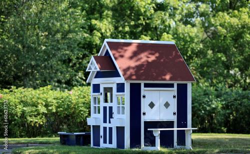 Fototapeta playhouse in the garden