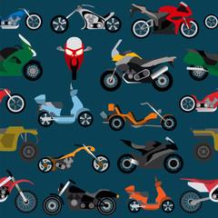 Tapeta Motorcycles background, seamless