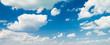 Leinwandbild Motiv blue sky background with clouds
