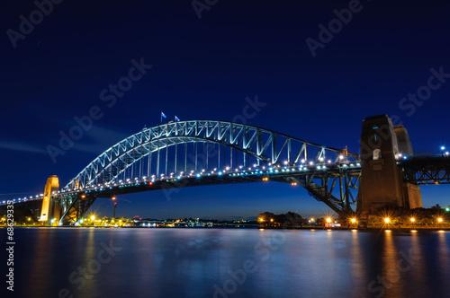 Foto op Canvas Australië Harbor Bridge at twilight