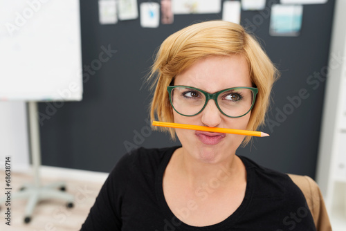 Fotografie, Obraz  frust im job