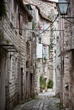 Fototapeta Uliczki - Old Stone Narrow Streets of Trogir, Croatia.