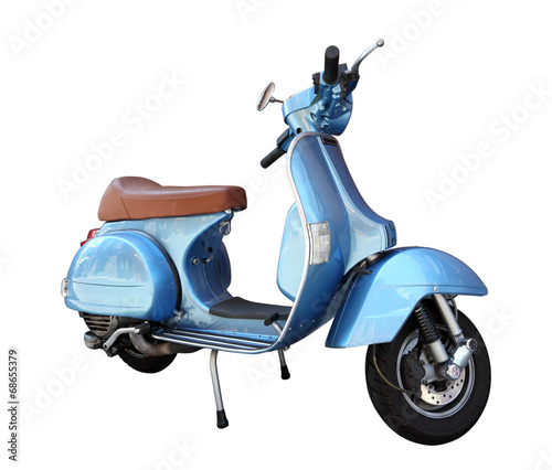 Foto op Canvas Scooter Classic scooter isolated on a white background