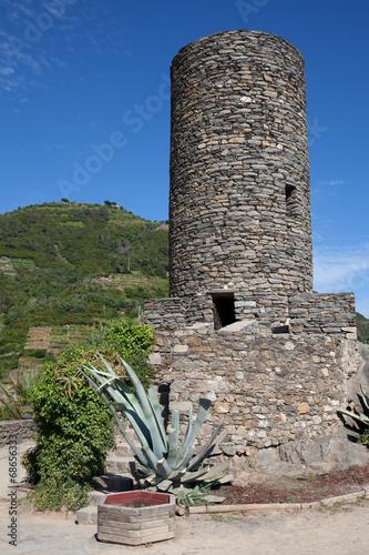 Fotografie, Obraz  Doria castle in Vernazza, Italy