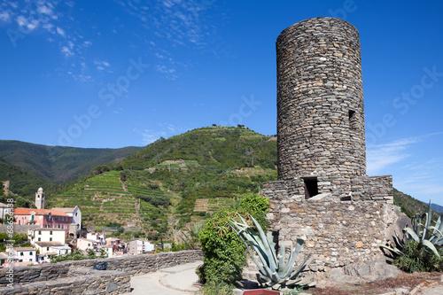 Valokuva  Doria castle in Vernazza, Italy