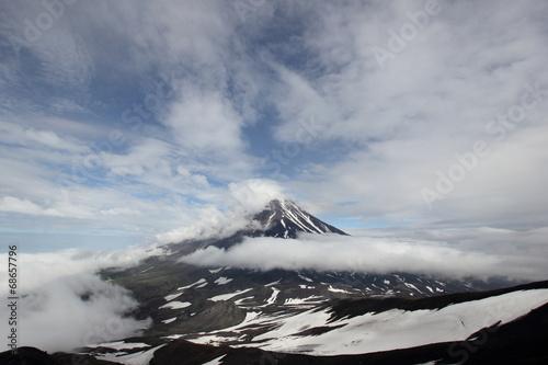 Deurstickers Vulkaan Вулкан