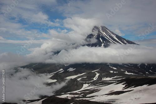 Deurstickers Vulkaan Авачинский вулкан